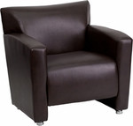Flash Furniture Majesty Series Brown Leather Lounge Chair 222-1-BN-GG