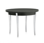 Global Total Office Camino Round End Table with Metal Legs 5486-LP