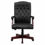 Flash Furniture Martha Washington Leather Swivel Chair