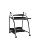 Eastwinds 971 Small Metallic Gray Metal Computer Desk with Anthracite Laminate Top