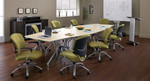 Global Total Office Flip Top Bungee Table Set (3 Sizes Available!)