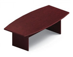 Global Total Office GCT8WBXBU Model 8' Boat Shaped Conference Table with Mahogany Finish