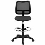 Flash Furniture Mesh Back Drafting Chair in Gray