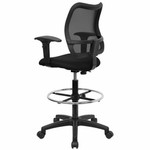 Flash Furniture Mesh Back Drafting Chair with Arms
