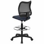 Flash Furniture Mesh Drafting Chair WL-A277-NVY-D-GG