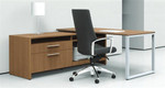 Global Total Office Princeton Writing Desk and Credenza (2 Finishes Available)