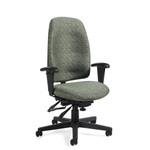 Global TS3217 Granada High Back 24 Hr. Heavy Duty Multi Tilter Chair