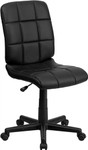 Flash Furniture Mid Back Black Quilted Vinyl Task Chair