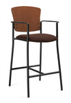 Global Twilight Series Armchair Bar Stool with Wood Back - 2188