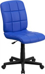 Flash Furniture Mid Back Blue Quilted Vinyl Task Chair