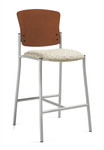 Global Twilight Series Armless Bar Stool with Wood Back - 2189