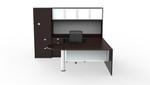 Cherryman Jade Reversible U Desk with Wardrobe Cabinet JA-156N (2 Finish Options!)