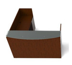 cherryman jade l shaped reception desk with glass transaction counter