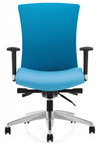 vion fabric ergonomic chair with polished base