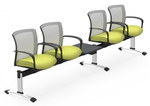 vion 4 person beam chair with integrated side table