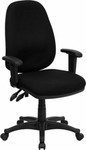 Flash Furniture Mid Back Ergonomic Computer Chair with Adjustable Arms