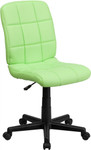 Flash Furniture Mid Back Green Vinyl Student Computer Chair