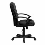 Flash Furniture Mid Back Leather Office Chair GO-1004-BK-LEA-GG
