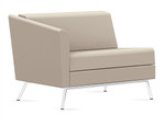 Global Wind Linear Series 3361RLM Right Arm Leather Lounge Chair