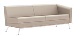 Global Wind Linear Series 3363LLM Left Arm Leather Sofa
