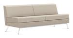 Global Wind Linear Series Armless Leather Sofa 3363NALM