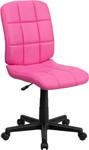 Flash Furniture Mid Back Pink Vinyl Task Chair