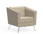 Global Wind Modern Fabric Lounge Chair 3361