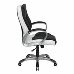 Flash Furniture Mid-Back Black and White Leather Executive Swivel Office Chair