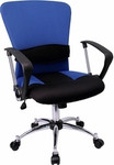 Flash Furniture Mid-Back Blue Mesh Office Chair