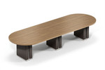 "Global Zira 144"" x 48"" Oval Conference Table (Available With Power!)"