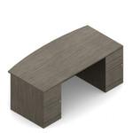 Global Zira Bow Front Executive Office Desk Z3660FB23