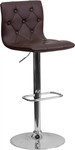 Flash Furniture Modern Brown Vinyl Bistro Stool