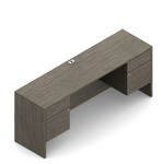 """Global Zira Collection 60"""" Kneespace Credenza with Box File Pedestals"""