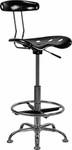 Flash Furniture Modern Drafting Chair LF-215-BLK-GG