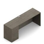 Global Zira Credenza Desk with Pedestal Z2072CS4L