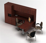 Global Zira L-Desk with Hutch and Storage Tower