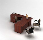 Global Zira L-Shaped Desk with Storage