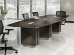 Global Zira Series 10' Boat Shaped Conference Table Z48120BE (Available with Power!)