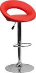 Flash Furniture Modern Red Vinyl Curved Back Bar Stool