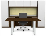 Cherryman Verde Series Modern Office Furniture Set with White Accents
