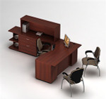 Global Zira Series Contemporary L Desk