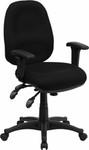 Flash Furniture Multi Functional Black Fabric Swivel Chair