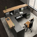 Global Zira Series Luxury Reception Desk Configuration
