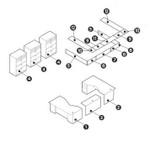 Global Zira Series Modern U Shaped Reception Desk for 2 Users