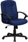 Flash Furniture Navy Blue Office Chair with Nylon Arms