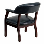 Flash Furniture Navy Blue Vinyl Luxurious Conference Chair