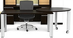 Cherryman Verde VL-866 Table Desk with Pivoting Side Table