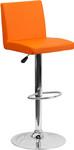 Flash Furniture Orange Vinyl Armless Bistro Style Bar Stool
