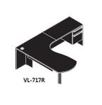 "Cherryman VL-717 Verde Series Arc End Desk with 42"" Return"