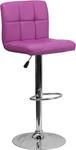 Flash Furniture Purple Vinyl Bar Stool with Chrome Base
